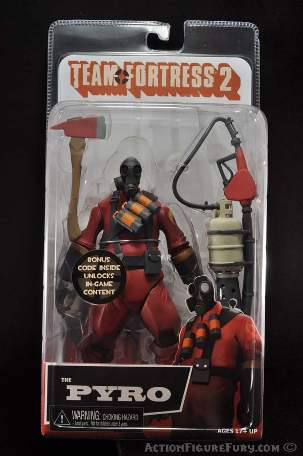 NECA Team Fortress 2 Pyro Figure packaging front