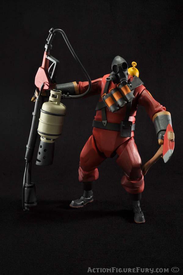 NECA Team Fortress 2 Pyro Figure accessories