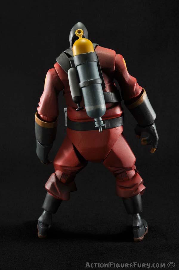 NECA Team Fortress 2 Pyro Figure back