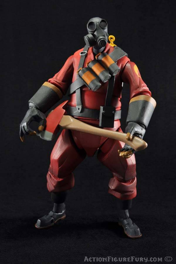 NECA Team Fortress 2 Pyro Figure posed