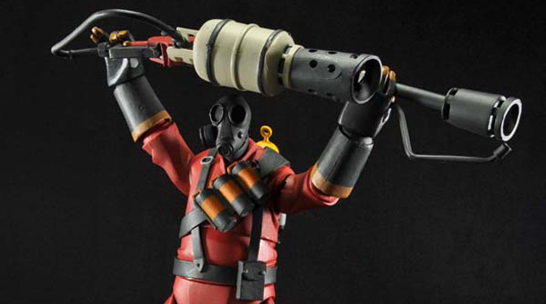 NECA Team Fortress 2 Pyro Figure Review