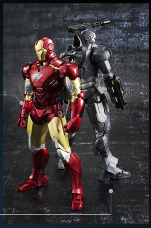 SH FiguArts Iron Man MK VI and War Machine