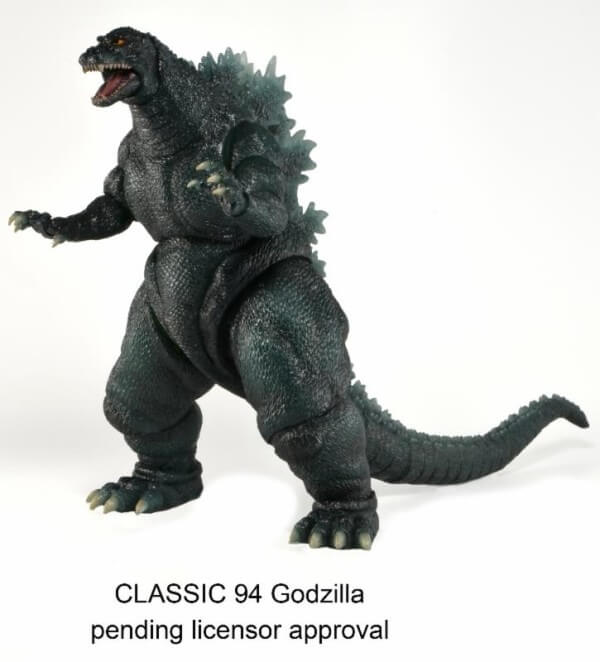 1985 and 1994 Classic Godzilla Action Figures