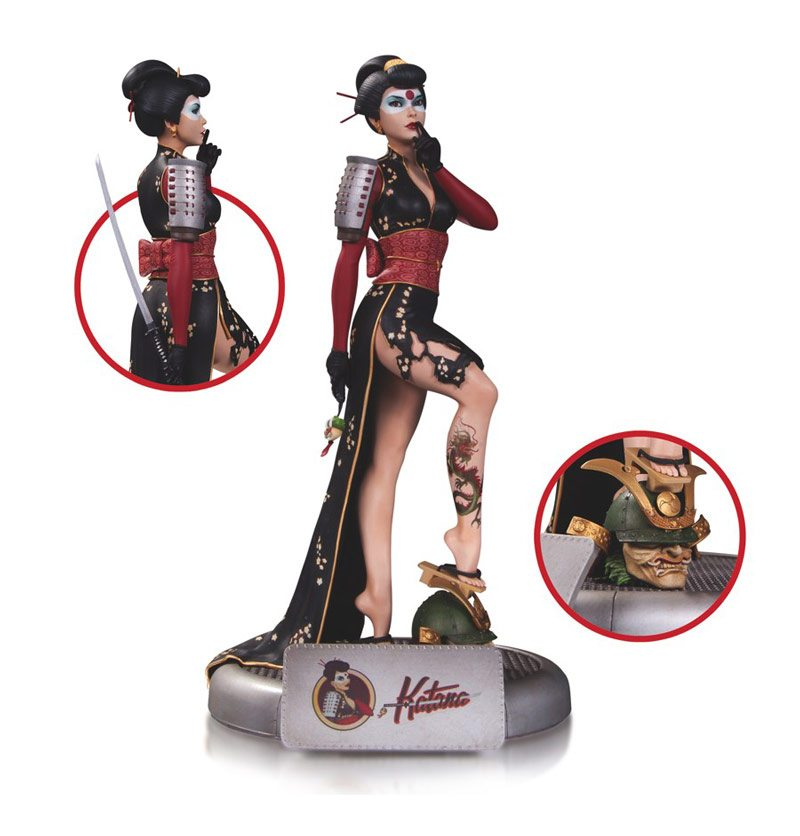 DC Bombshells Katana statue from DC Collectibles