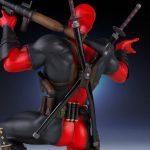 Gentle Giant Deadpool statue, back