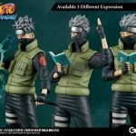 The Gecco Toys Kakashi Hatake posable statue, exclusive edition different expressions