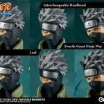 The Gecco Toys Kakashi Hatake posable statue, exclusive edition headbands