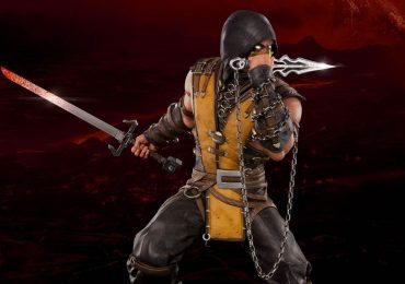 Pop Culture Shock Mortal Kombat X Scorpion statue, exclusive edition