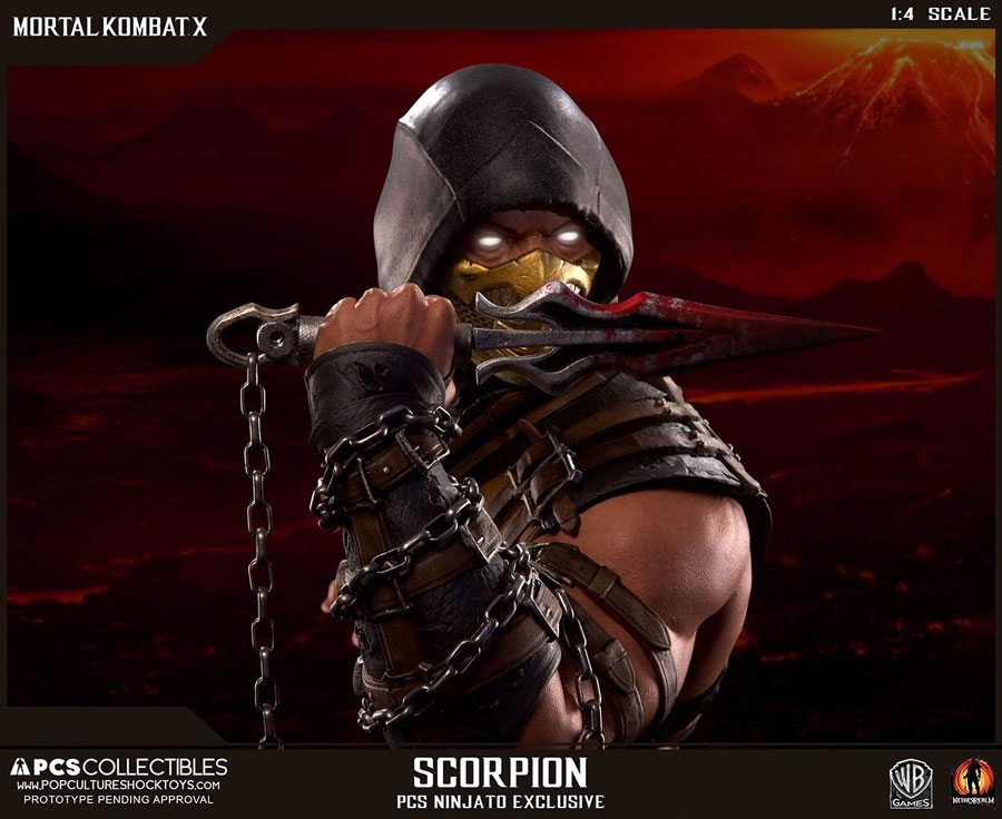 Mkx Scorpion Ex By Pcs Toys Face Action Figure Fury
