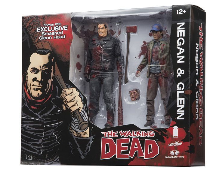 Skybound's SDCC 2106 exclusive Walking Dead Negan and Glen action figures