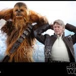 Hot Toys Movie Masterpiece Chewbacca and Han Solo action figure bundle