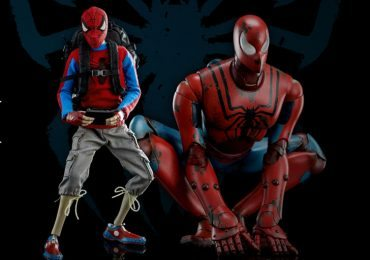 ThreeA Spider-Bot and Peter Parker action figures