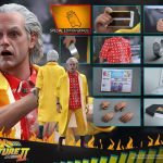 Sixth Scale Hot Toys Back to the Future 2 action figures - Doc Brown, exclusive accessories