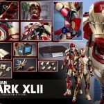 Hot Toys quarter scale battle damaged Iron Man 3 action figure, Mark XLII armor