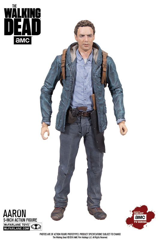Walking Dead collectibles - McFarlane Toys 5 inch The Walking Dead action figures, Aaron