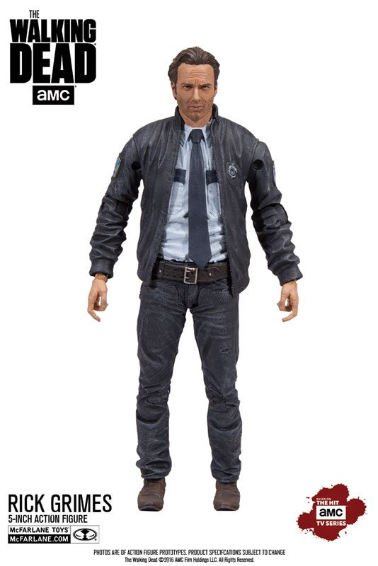 Walking Dead collectibles - McFarlane Toys 5 inch The Walking Dead action figures, constable Rick Grimes