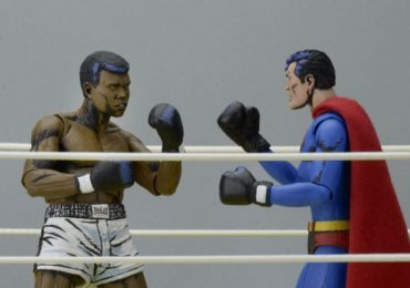 NECA Superman and Muhammad Ali action figures 2 pack