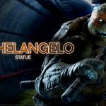 Sideshow new TMNT Statues preview of Michaelangelo