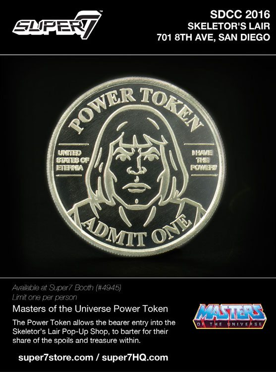 Super7 Power Token - Retro MOTU Action Figures