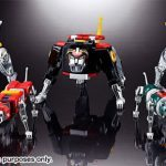 Tamashii Nations Soul of Chogokin Voltron action figure, space lions standing