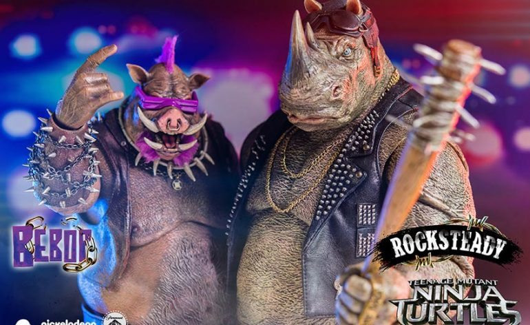 Rocksteady and Bebop ThreeZero TMNT Out of the Shadows Action Figures