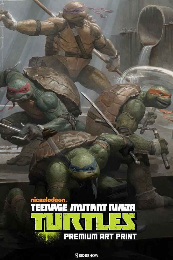 Paolo Rivera Sideshow Fine Art Print of the Teenage Mutant Ninja Turtles