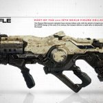 3A DOOM Marine action figure, exclusive version plasma rifle