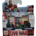 Diamond Select Toys August 2016 Releases - Captain America Cilvil War Minimates, Secretary Ross and Merc