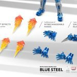 Comicave Studios Iron Man Blue Steel action figure, accessories