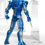 Comicave Studios Iron Man Blue Steel action figure, rear view