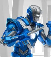 Comicave Studios Iron Man Blue Steel action figure