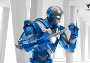 Comicave Studios Iron Man Blue Steel action figure