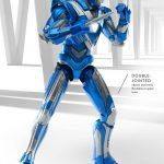 Comicave Studios Iron Man Blue Steel action figure, details