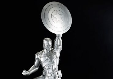 Comicave Studios Captain America Statues, Pewter replica