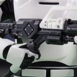 Gentle Giant First Order Flame Trooper Mini Bust, flamethrower view