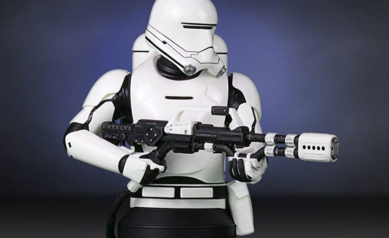 Gentle Giant First Order Flame Trooper Mini Bust, side view