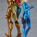 Good Smile Company Metroid: Other M Samus Zero Suit action figure, with Samus armored version