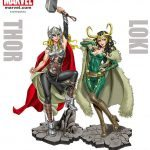 The Kotobukiya Lady Loki Bishoujo statue artwork