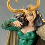 The Kotobukiya Lady Loki Bishoujo statue, front close