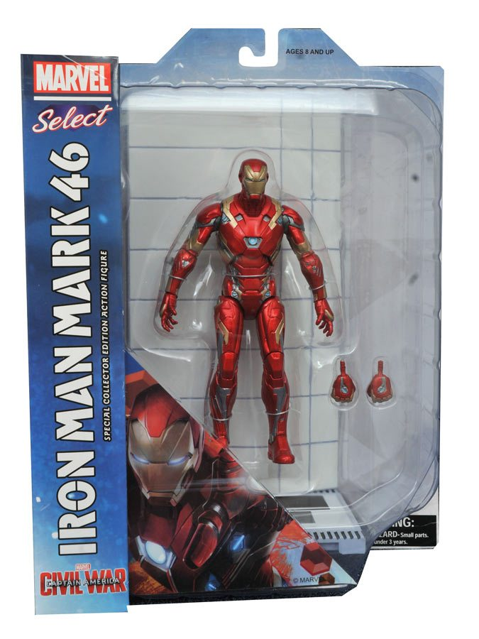 Diamond Select Toys August 2016 Releases - Captain America Cilvil War Marvel Select Iron Man Mark 46 Armor