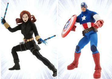 Marvel Ultimate Series Premium Action Figures - Black Widow and Captain America