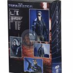 NECA Police Station Assault T-800 action figure, back of packaging