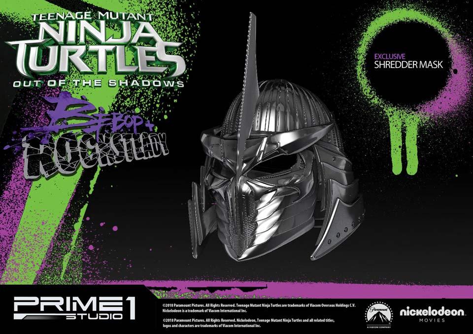 Prime 1 TMNT statues, Rocksteady and Bebop, Shredder mask exclusive