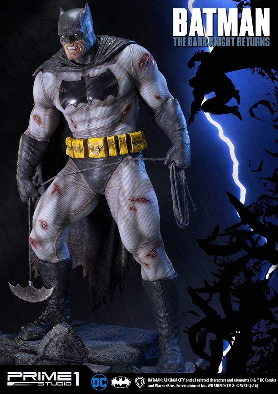 The Dark Knight Batman statue from Prime 1 Studios, full view