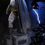 The Dark Knight Batman statue from Prime 1 Studios, rear view