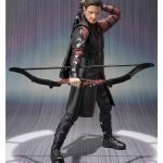 SHFiguarts Hawkeye action figure, reaching for arrows