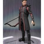 SHFiguarts Hawkeye action figure, standing with bow