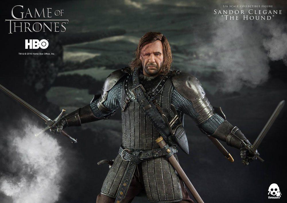 Game of Thrones ThreeZero Sandor Clegane action figure, the Hound