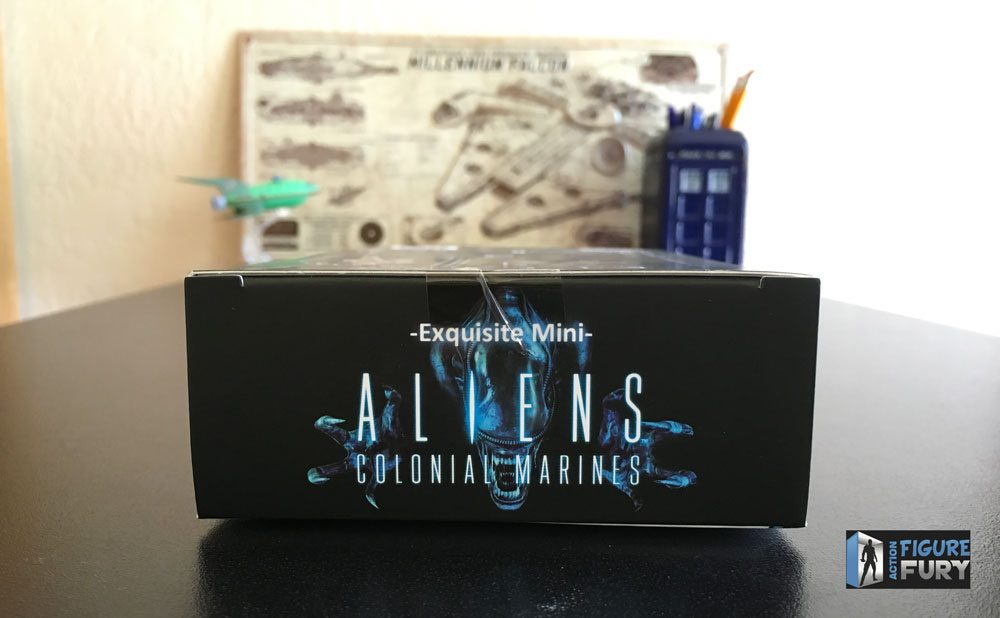 Hiya Toys Aliens Colonial Marines action figures, top of the packaging