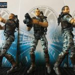 Hiya Toys Aliens Colonial Marines action figures, group shot of Hudson, Hicks, Quintero